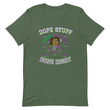 """Dope Stuff Done Right X O.T.M. B.K."" Short-Sleeve Unisex T-Shirt"