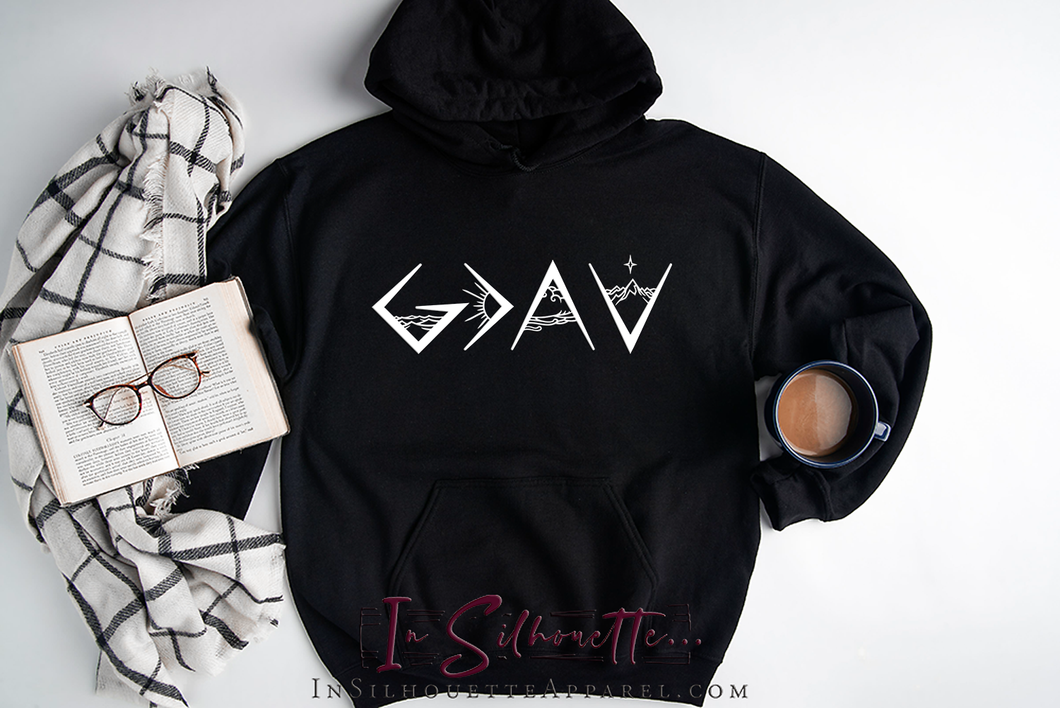 God is Greater than the Highs and the Lows (Design 1) - Hoodie