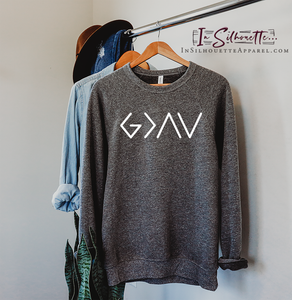 God is Greater than the Highs and the Lows (Simple) - Pullover Sweater