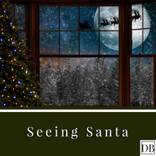 Load image into Gallery viewer, Seeing Santa Digital Background