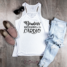 Load image into Gallery viewer, Boudoir Photography is my Cardio - Ladies Razorback Tank