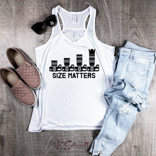 Load image into Gallery viewer, Size Matters - Ladies Razorback Tank