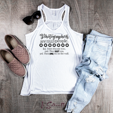 Load image into Gallery viewer, Photographers are Violent people... - Ladies Razorback Tank