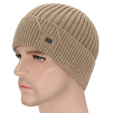 Beaines Knitted Fur Beanie Hat Winter Bonnet