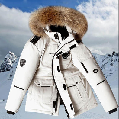 -30 Degree Down Jacket White Parkas Coat
