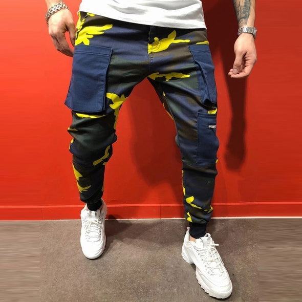 Side Zipper Pockets Men Joggers Pants