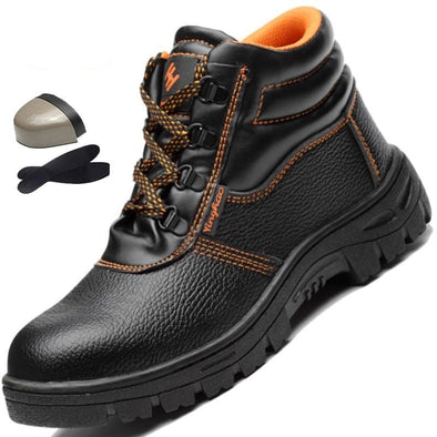 High Top Steel Toe Cap Anti Smashing Work Boots