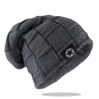 Beanie Hat Knit Wool Warm Winter Hat Thick Soft Stretch Hat