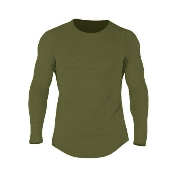 Plain Cotton Fitness Long Sleeve T Shirt