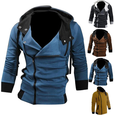 jacket coat Men's jackets Zipper Drawstring Hooded