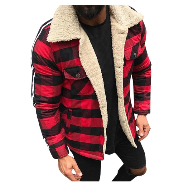 Winter Jacket Fashion Plaid Compound Casual Tops Coats