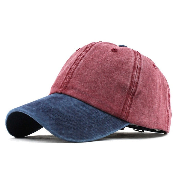 9 Mixed colors Washed Denim Snapback Hats