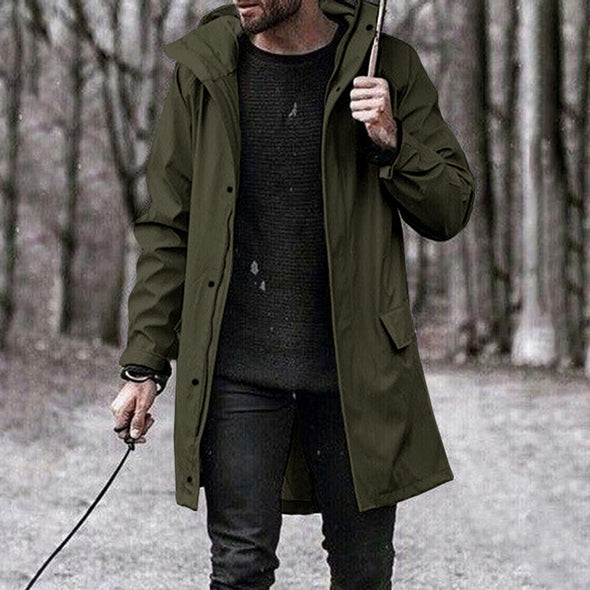 Fashion Long Autumn Jacket Luxury Mens Coat Casual Outwear