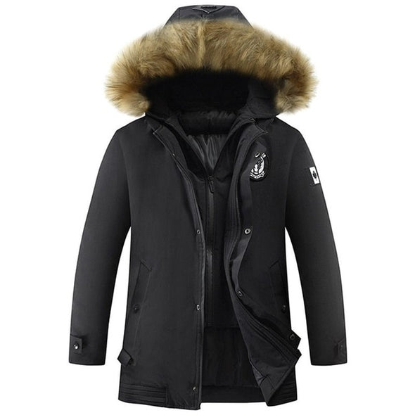 Fur Collar Jacket Thicken Warm Waterproof Parkas