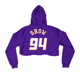 Valley Cropped Hoodie Purple