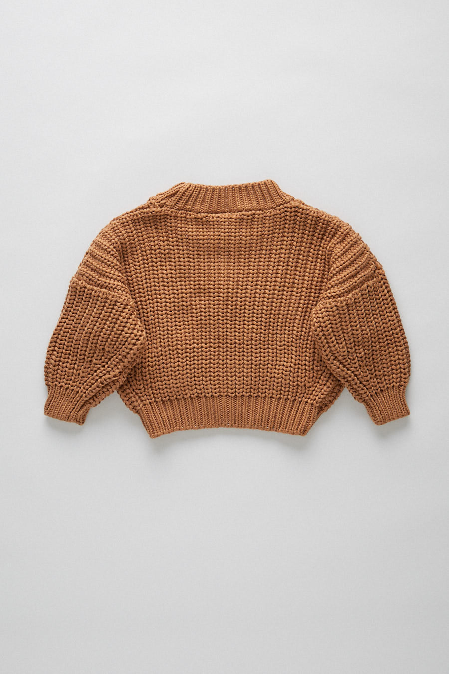 chunky pullover - tan