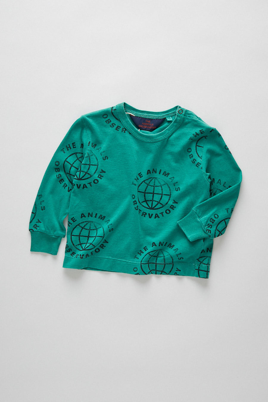 baby dog t-shirt - planet green
