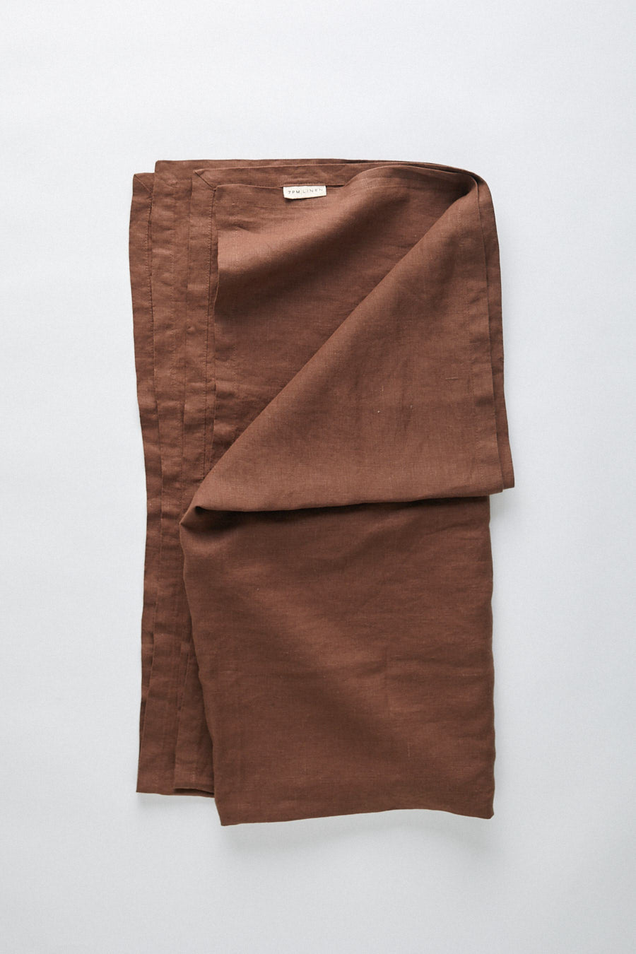 pure linen wrap- mud