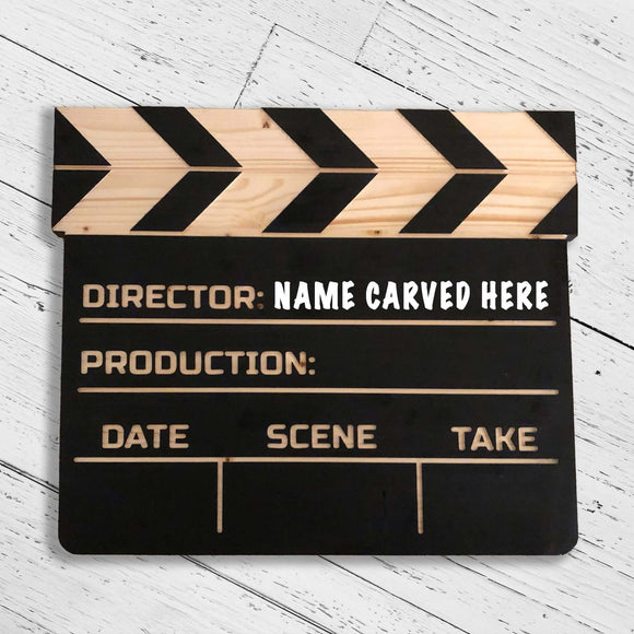 Customized Wooden Clapperboard Replica