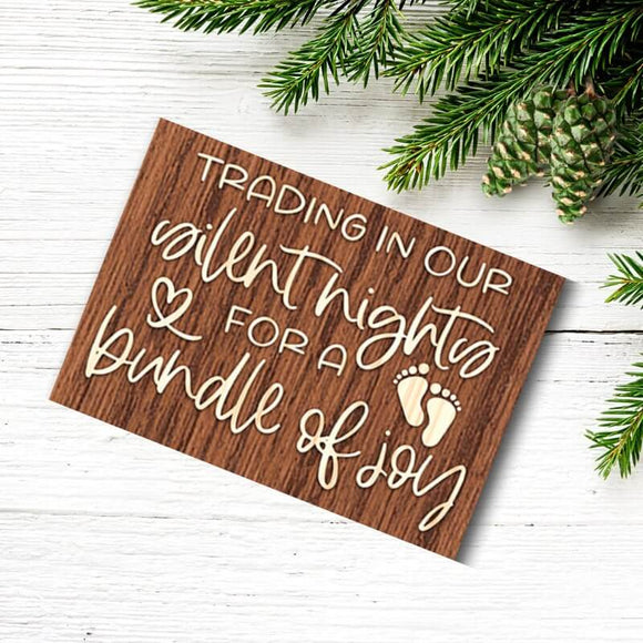 Bundle of Joy  Carved Wood Sign