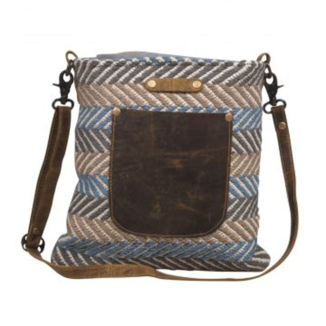 2014 Myra Blue Braids Shoulder Bag
