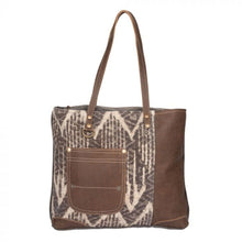 Load image into Gallery viewer, 2150 Myra Brown Canvas Tote