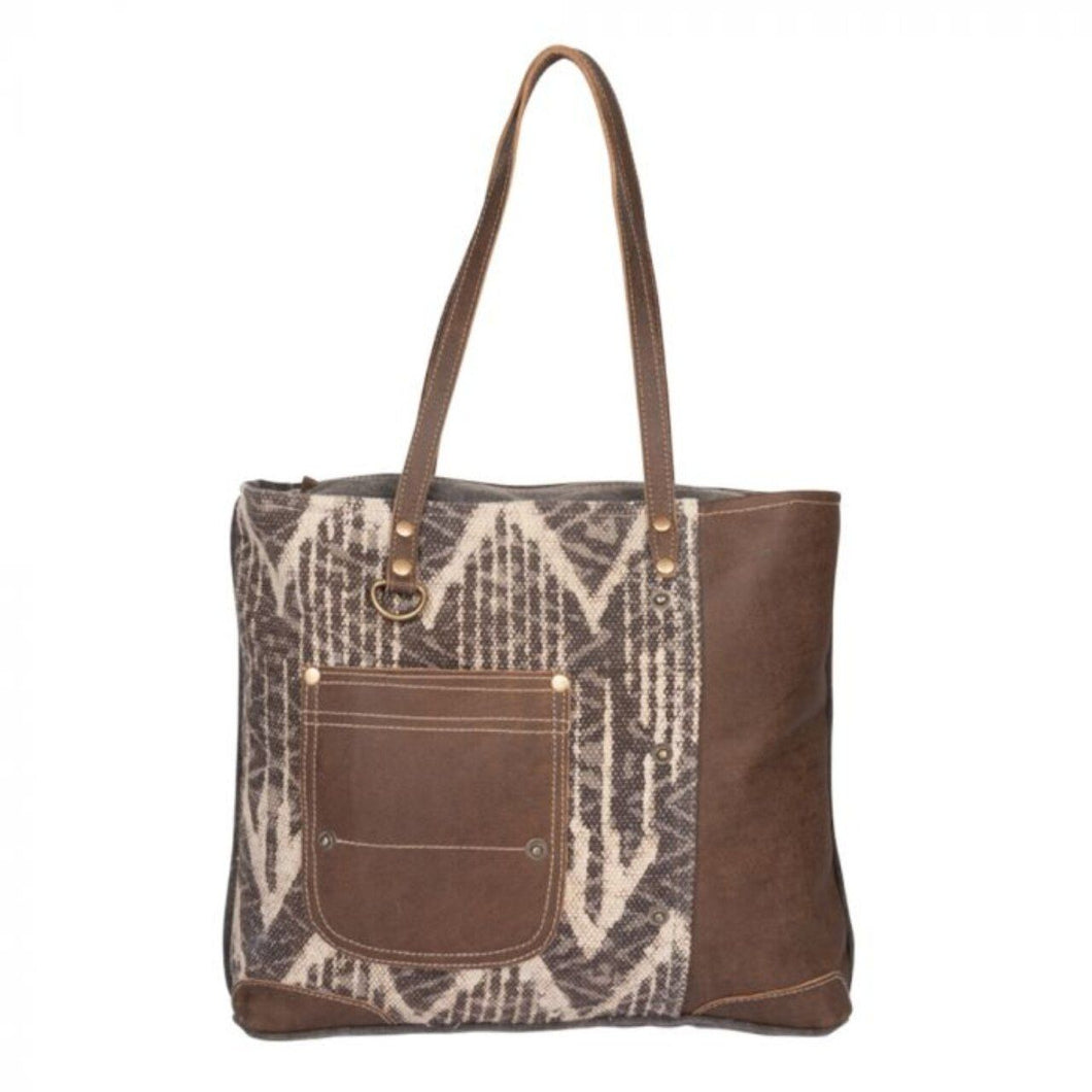 2150 Myra Brown Canvas Tote