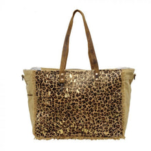 Load image into Gallery viewer, 2537 Myra Leopard Hairon and Canvas Bag