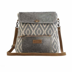 2557 Myra Grainy Gray Shoulder Bag