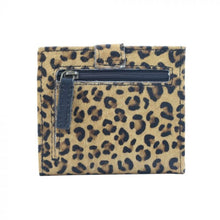 Load image into Gallery viewer, 2692 Myra Leopard Leather & Hairon Snap Wallet