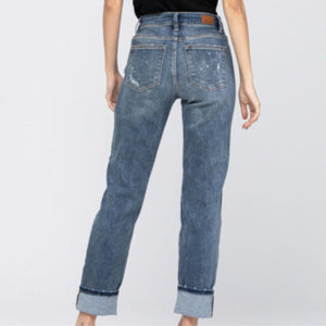 Judy Blue Beach Splash Boyfriend Jean