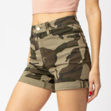 Load image into Gallery viewer, Kancan High Rise Camo Shorts