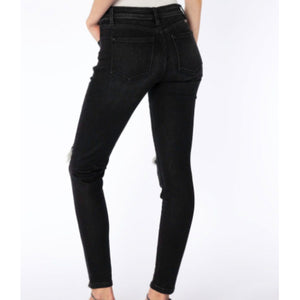 Kancan Black Distressed Skinny Jeans