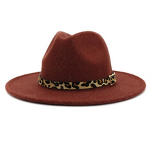 Load image into Gallery viewer, Leopard Wide Brim Hat