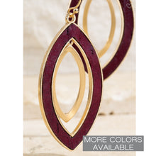 Load image into Gallery viewer, Double Layered Marquis Earrings