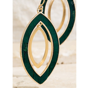 Double Layered Marquis Earrings