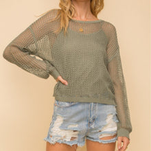Load image into Gallery viewer, Lightweight Crochet Sweater with Cami