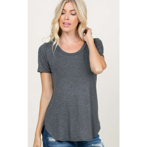 Plus Curved Hem Top