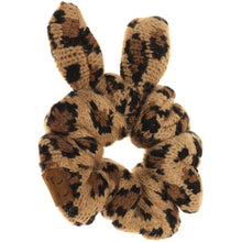 Load image into Gallery viewer, CC Beanie Leopard Ponytail Scrunchie
