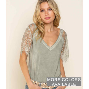 Sweetheart Lace Sleeve Top