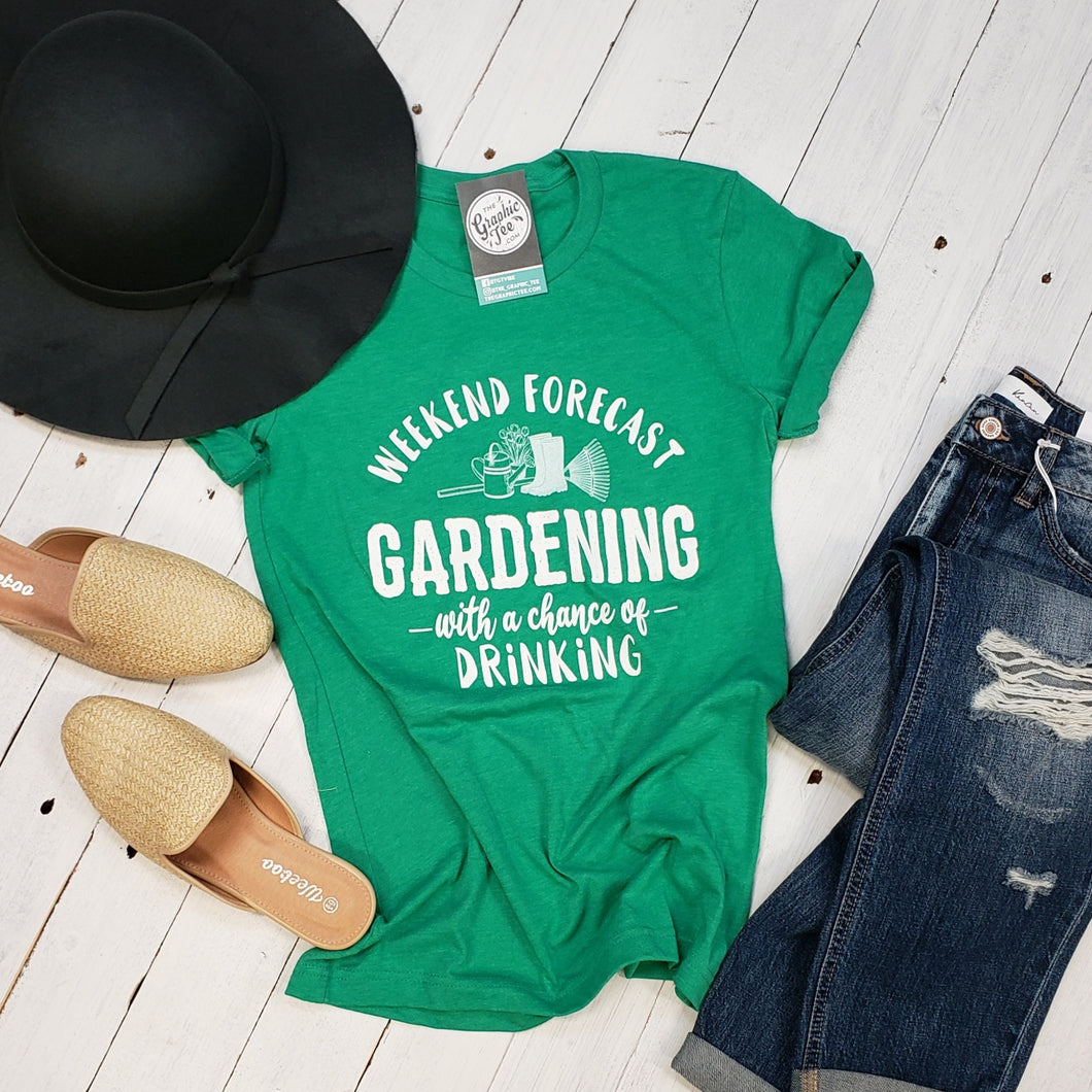 Weekend Forecast (Gardening With a Chance of Drinking) Tee