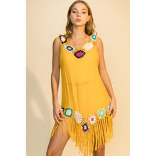 Load image into Gallery viewer, Hippie Gypsy Sunshine Fringe Dress