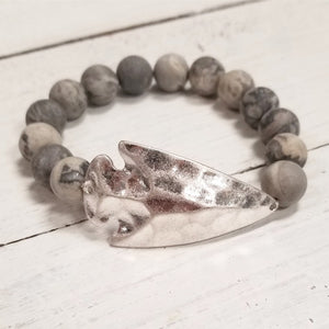 Arrowhead Metallic and Beaded Bracelet