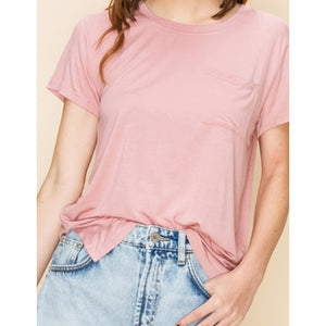 Short Sleeve High Low Top