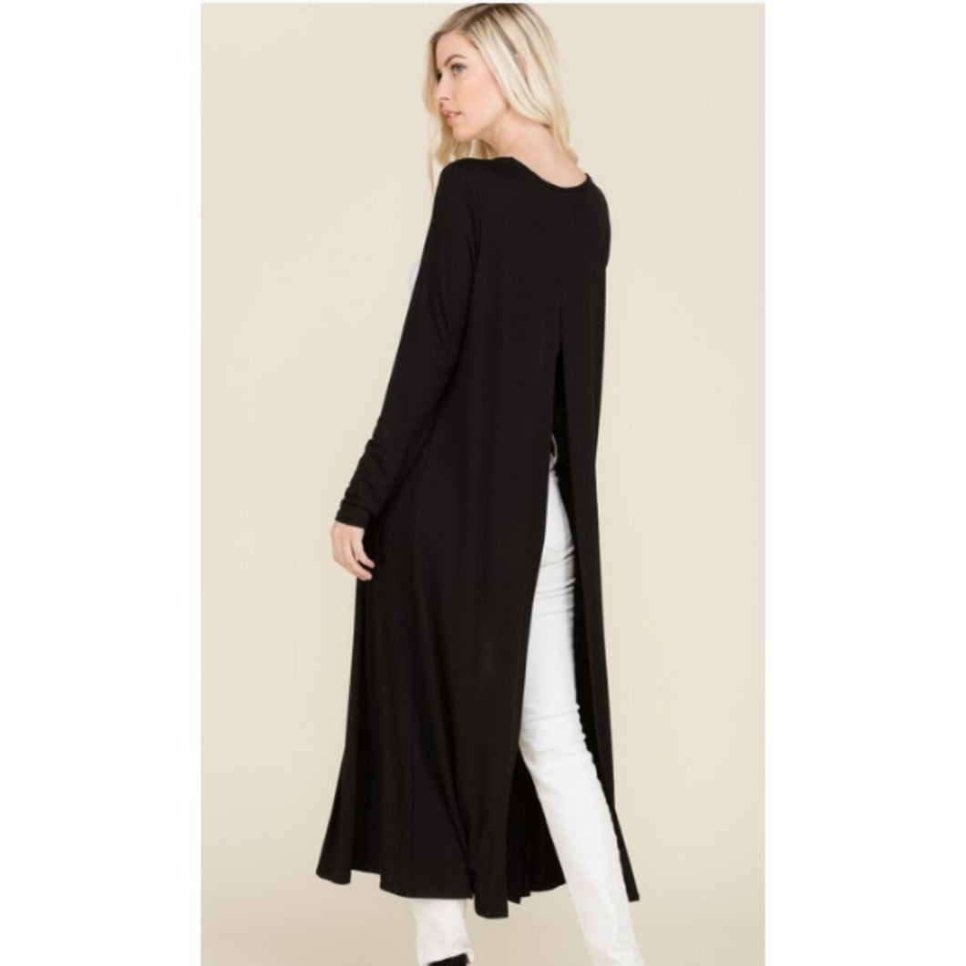 Maxi Cardigan with Split Back