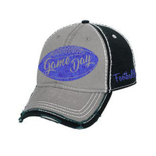 Load image into Gallery viewer, Game Day - Distressed Trim Cap with Glitter Decoration