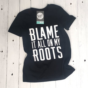 Youth Blame it All On My Roots - Black Tee