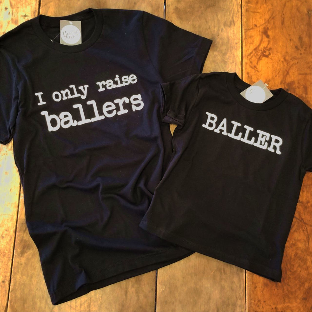 Baller - Black Youth Tee