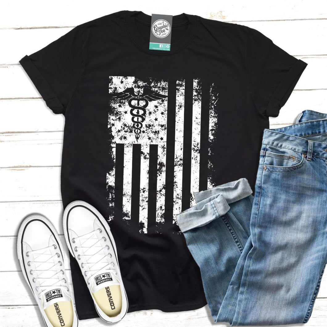 Medical US Flag - Unisex Tee