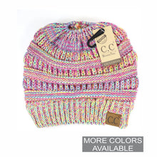 Load image into Gallery viewer, CC Multi Tone Ponytail Beanie